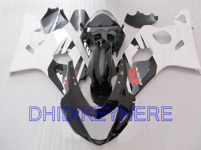 white black bodywork for SUZUKI GSXR 600 750 2004 2005 GSX R600 GSXR600 GSXR750 04 05 K4 fairing kit