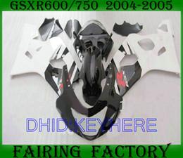 Wholesale K4 Fairings - white black bodywork for SUZUKI GSXR 600 750 2004 2005 GSX R600 GSXR600 GSXR750 04 05 K4 fairing kit
