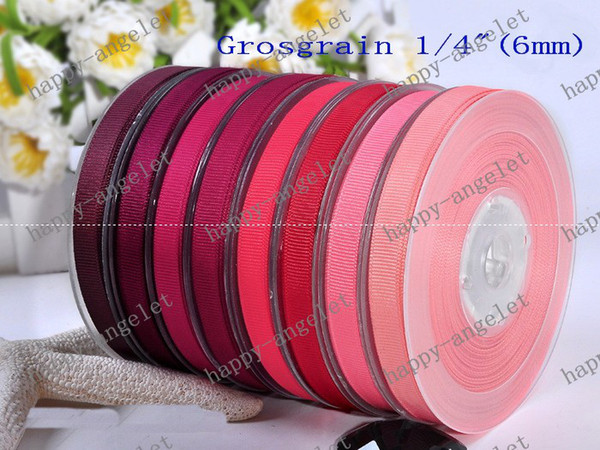 """best selling New 1 4"""" Grosgrain Ribbon printed ribbon for gift packaging & DIY headband bowknot 100Y roll Dragee"""