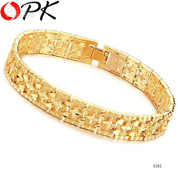 JEWELLERY brand new design 18K Gold plated link chain Bracelet Hot ...
