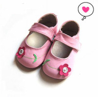 Genuine leather baby SECOND walker shoes with rubber SUEDE s...