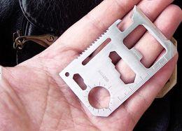 Wholesale Steel Survival Card - Universal Card Knif Stainless Steel Multi-function Emergency Survival Card Pocket Knife CampTool