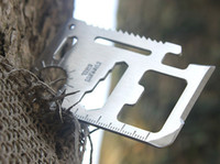 faca de cartão ao ar livre venda por atacado-11 em 1 Multi-Funcional de Cartão de Faca de Esportes ao ar livre Sobrevivência Facas Multiuso Saber ferramentas cartão