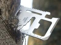 chinese knives free shipping al por mayor-Cuchillo de tarjeta multifuncional 11 en 1 Cuchillo de supervivencia para deportes al aire libre Tarjeta de herramientas de Sable multiusos