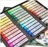 Wholesale Hair Chalk Box - 36 colors 1 box Chalk Hair Color Temporary Hair Chalk Fun Fast Easy!Soft Fencai Bar EMSfree shipping