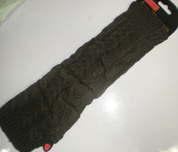 Knited Arm warmers ARM CORVER Fingerless Half Gloves20 pares / lote # 2338