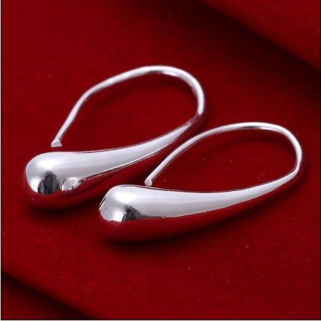 100% neuf haute qualité 925 argent les gouttelettes d'eau stud boucles d'oreilles bijoux de mode 15 paire / lot