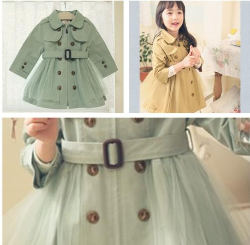Baby Girl's Autumn Winter Outfit Tench Wind Coat Children's ...