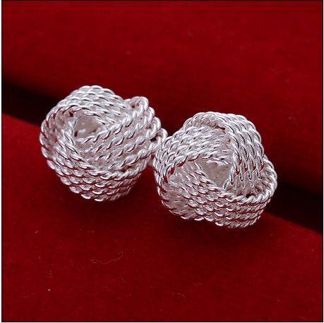 Gloednieuwe Hoge Kwaliteit 925 Silver Tennis Stud Oorbellen Mode Geschenk Sieraden Gratis Verzending 15 Paar / partij