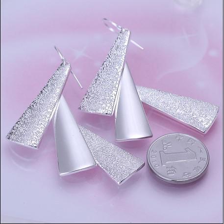 Högkvalitativ 925 Silver Drop Earrings Mode Ladies Smycken Gratis Frakt 10Pair / Lot