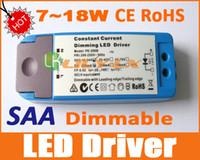 ledli sürücü kısılabilir toptan satış-LED ışık kısılabilir sürücü 7 W 18 W Downlight LED Karartma trafo Avustralya SAA CE ROHS SıCAK SATıŞ