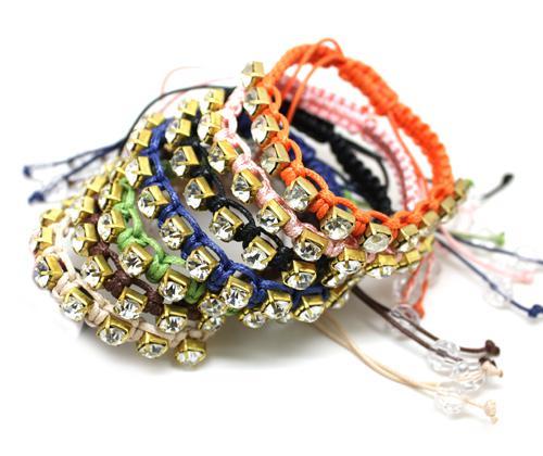 Ручной Плетеный Бриллиант Браслеты Из Искусственных Камней Браслеты Дружбы