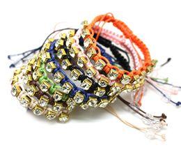 Wholesale Diamond Braid Bracelet - Hand-Braided Diamond Bracelets Of Artificial Gemstones Friendship Bracelets