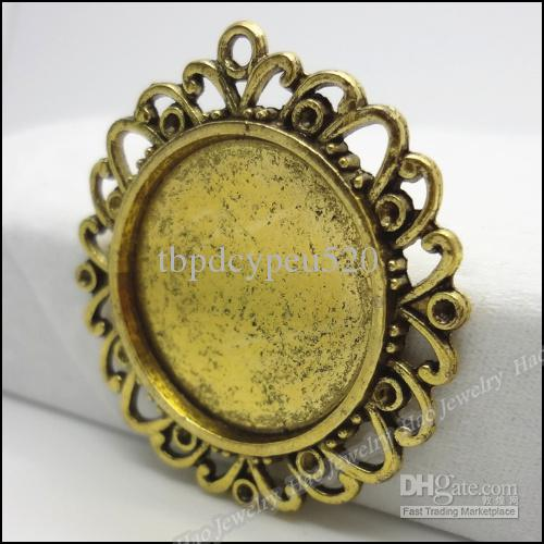 Antique gold Round Photo Frame pendant charm alloy jewelry accessories fashion Craft Findings 30pcs