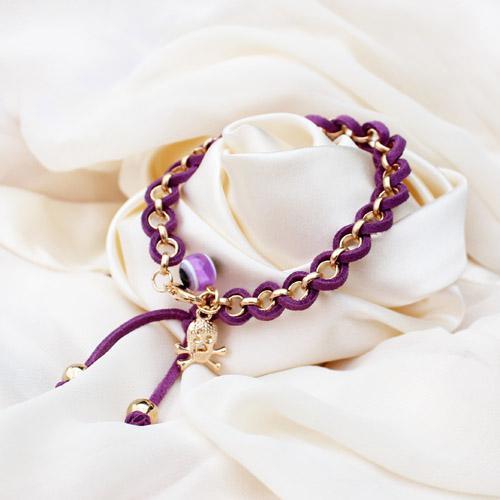 Wickeln Lederband Augäpfel Armbänder handgemachte gewebte Armbänder