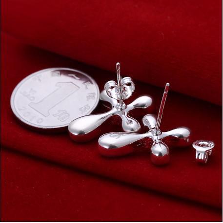 Sterlingsilber-Querbolzen-Ohrringart und weisendame-Schmucksachen der Qualitäts 925 geben Verschiffen 10pair / lot frei