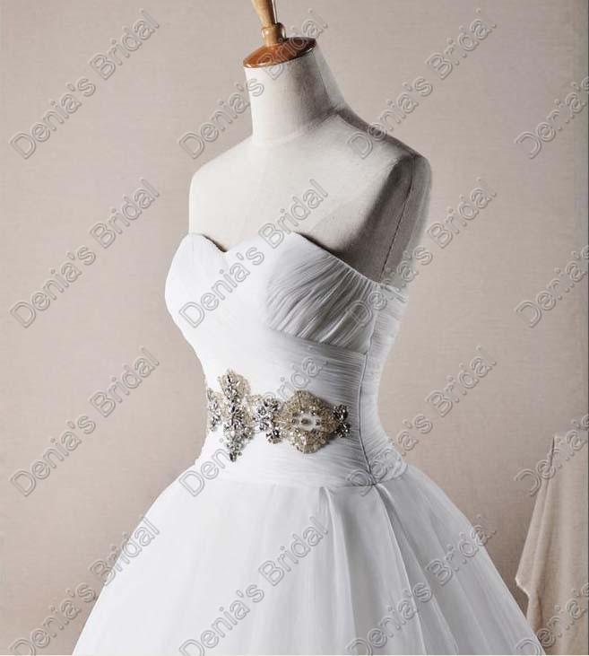 2017 Chérie Organza A-ligne Robes De Mariée Corset Puffy Jupe Perlé Réel Images Réelles Robes De Mariée DB256
