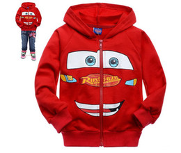 Wholesale Hoodies Cars - 2015 autumn cartoon red car boys coat, handsome boys Jacket, kids Hoodies 6pcs lot,