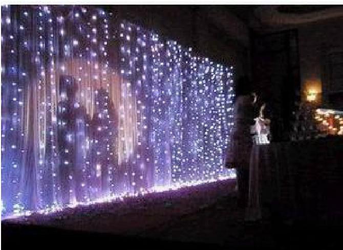 Lámpara de cortina de luz de fondo de la boda lámpara del festival de la lámpara de Navidad 6 * 3 metros 600 led 110V-220V
