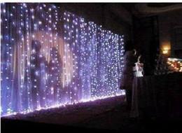Metros de cortina online-Lámpara de cortina de luz de fondo de la boda lámpara del festival de la lámpara de Navidad 10 * 3 metros 1000 led R02