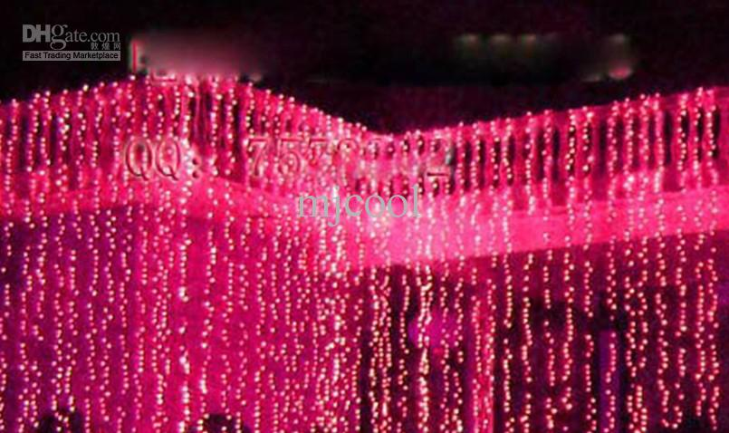 웨딩 배경 라이트 커튼 램프 크리스마스 램프 축제 램프 10 * 3 미터 1000 주도 R02
