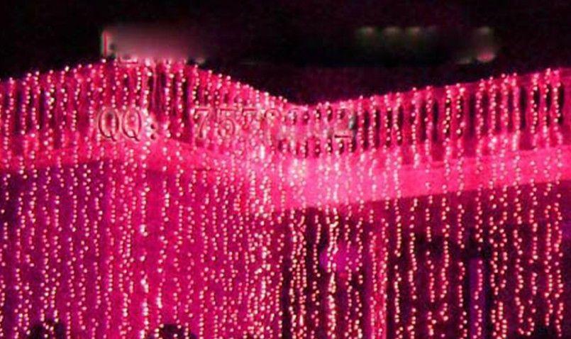 Fondo de la boda cortina de luz de la lámpara de la lámpara de Navidad festival de la lámpara 10 * 3 metros 1000 llevó el envío libre