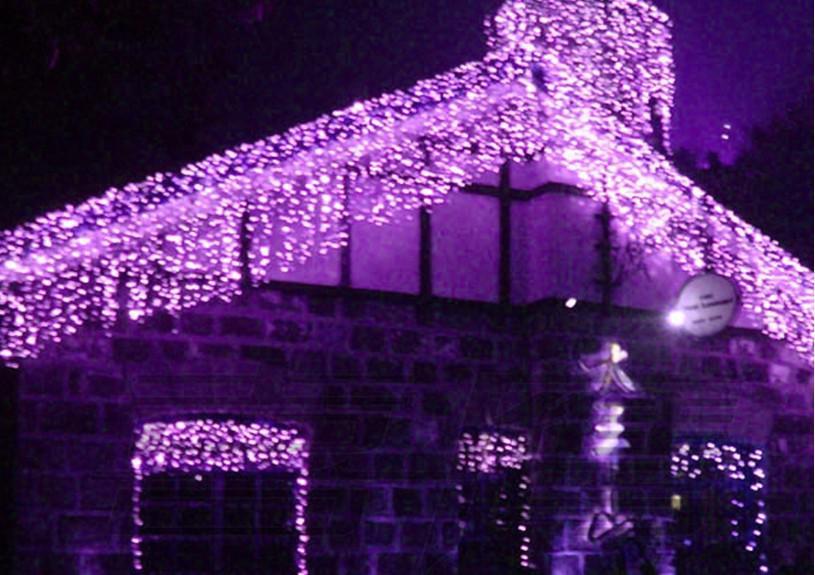 Begrenzte Lichterketten 480leds Wedding Background-Lichtvorhang Lampen Fairy Christmas Lights Festival Led Garten 10m x 1,5 m