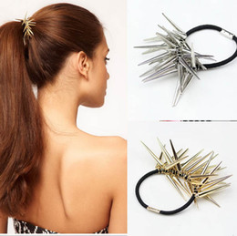 Wholesale Wig Circle - The punk with wind ASOS of conical spike personality hair circle circle head hair headwear 10pcs lot 55
