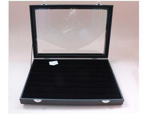 49 par manschettknappar Förvaringsväska / displaybox Svart trä / smyckeskrin arrangörer
