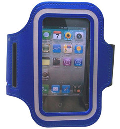 Wholesale Sport Case Iphone5 - 200pcs Sport ArmBand leather Case for apple iphone5 5S , Solf Belt arm band For iphone5 5S