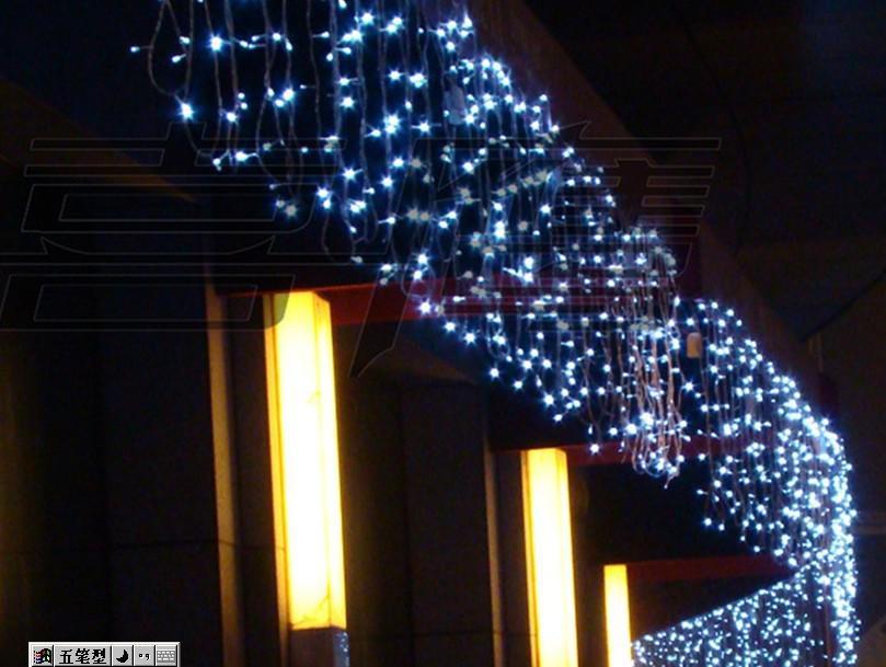カーテンライトクリスマスランプ祭りランプ10 * 0.65メートル320LED 110V-220V防水厚肉の1本