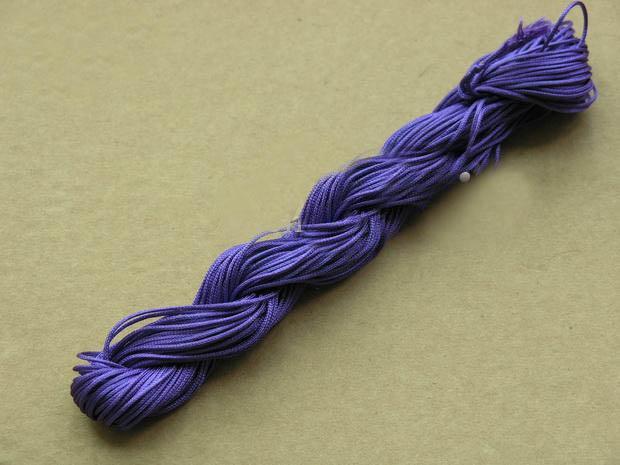 250m / 270yds 1mm MultiColor Beading cabo de poliéster frisado pulseira corda trançada