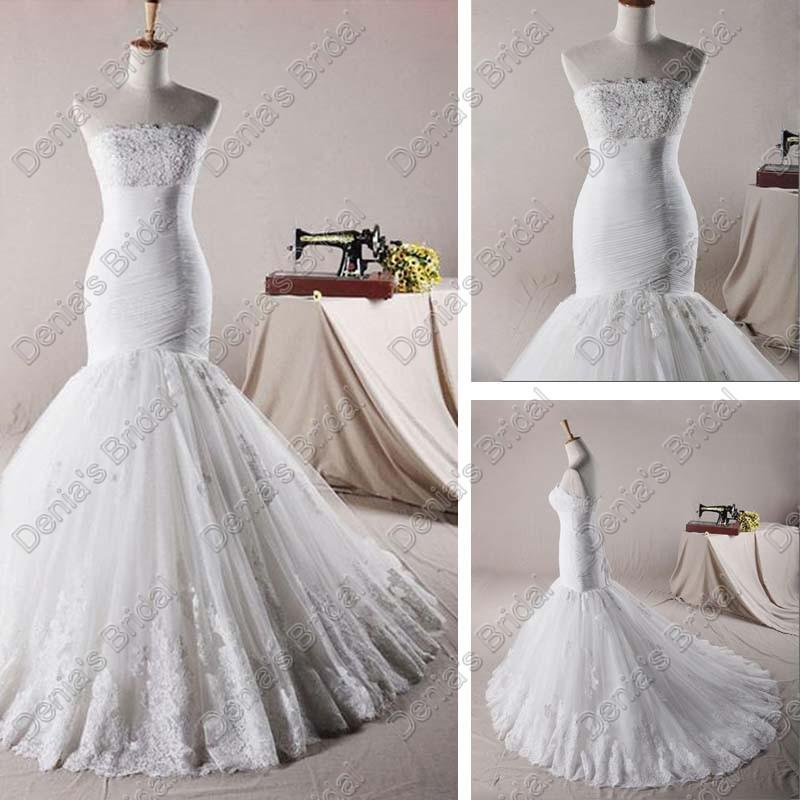 Dropped waist wedding dress lace