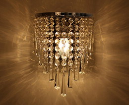 Wholesale Kitchen Wall Lighting Fixtures - Wholesale vintage K9 Wall Crystal Chandelier Pendant Lamp light fixture HOT SELL FREE SHIPPING