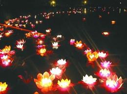 Wholesale wish lamps - Lotus lamp Wishing Lotus Light Water lanterns floating water light candle light 30pcs 20pcs