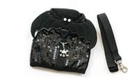 batman köpeği toptan satış-Giltter batman tasarım köpek koşum tasma hayalet charm siyah pet köpek ile set serin yumuşak koşum kemer