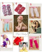kızlar çorap toptan satış-20 Pairs Lot Bebek Kız Dantel Petti Ruffles Bacak Kol Isıtıcıları için Tulum Tutu Ücretsiz Boyutu Legging Çorap
