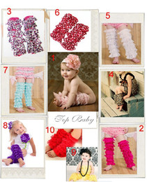 Wholesale Lace Ruffle Rompers For Girls - 20 Pairs Lot Baby Girls Lace Petti Ruffles Leg Arm Warmers for Rompers Tutu Free Size Legging Socks