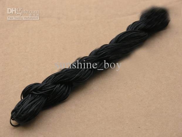 2012 caliente 1 unids = 250 m / 270yds 10 unids 1 mm MultiColor rebordear cable de poliéster pulsera de cuentas cuerda trenzada