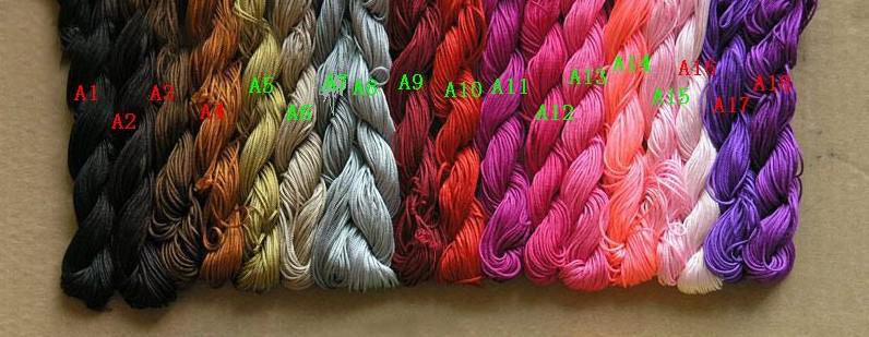 2012 heiße 1pcs = 250m / 270yds 10pcs 1mm multiColor, das Polyester-Schnur bördelt Armband geflochtenes Seil bördelt