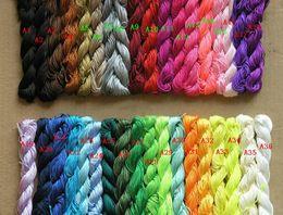 seil geflochtenes armband Rabatt 2012 neue 250m / 270yds 1mm MultiColor Perlen Polyester Cord Perlen Armband geflochtenen Seil