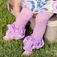 Wholesale Lace Ruffle Leggings For Girls - Pretty Girl leg warmers leggings NEW Lace Baby Leg Warmers,Ruffle leggings stockings for Girls,7 colours Tights Leggings socks for babies