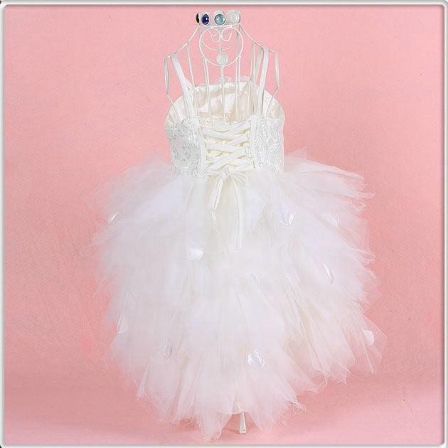 Grossistpris! Kundgjord storlek tutu stil blomma tjej klänningar