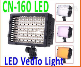 Meilleures lumières photo led à vendre-Meilleures ventes! CN-160 160 LED Video Light Camera DV éclairage photo 5400K Pour Canon Nikon,