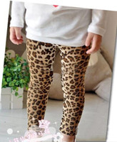 Wholesale Leopard Leggings Winter - 2016 spring girl leopard pants Children Legging Girls Leopard Legging baby pants girl leopard tights