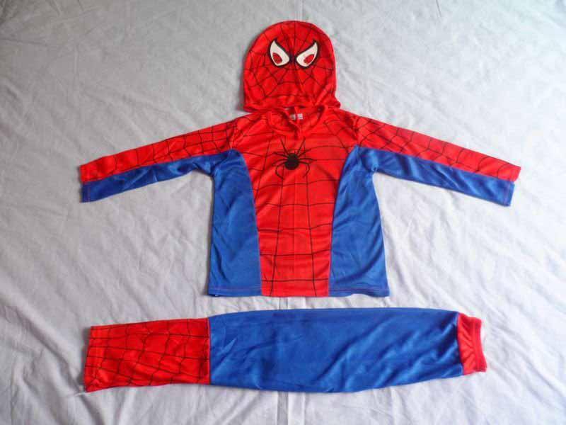 Roupas de Halloween das crianças, crianças Halloween mascote trajes do homem aranha, crianças traje Homem-Aranha