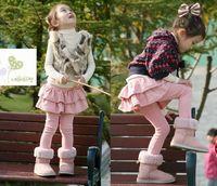Wholesale autumn cake - Girls' Leggings & Tights with Skirts Children's skirt Girls Skirt-pants Cake skirt Girl's pants 20p