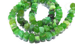Wholesale Jade Stone Faceted Beads - 2strands 5x8mm natural chrysoprase gemstone Australia jade green heishi rondelle abacus faceted loose bead