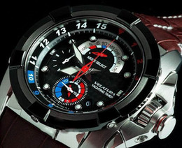 Wholesale Mens Alarm Watches - 2012 Mens Velatura Yachting Watch Chronograph Timer SPC041 Alarm Brown Leather P1 Watches