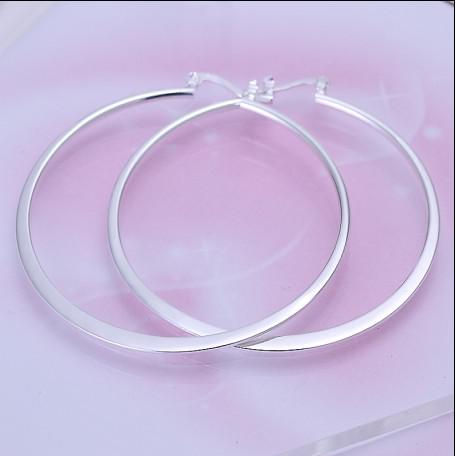 ベスト高品質925シルバーフープイヤリングファッションレディースジュエリー送料無料10ペア/ロット